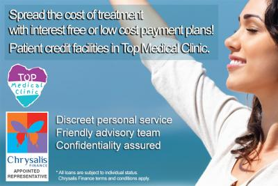 Spread the cost of treatment with interest free or low cost payment plans! Patient credit facilities in Top Medical Clinic.