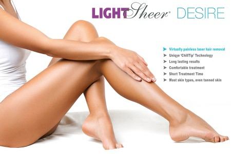 ONLY IN DECEMBER LightSheer Desire laser hair removal in our clinic is 50% off!
